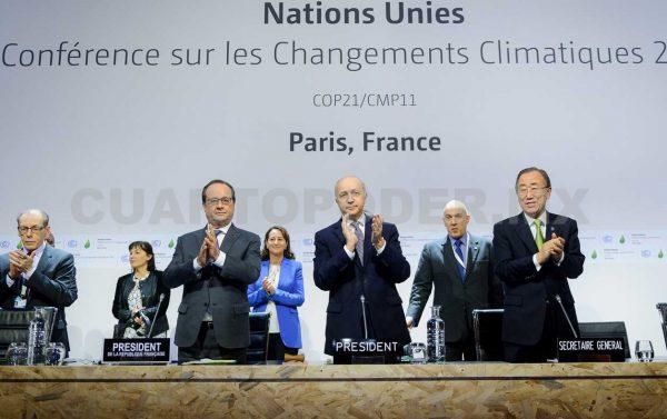 Líderes mundiales aplauden el acuerdo de París sobre el Clima