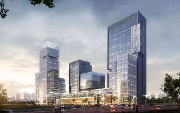 hehong square competition render afternoon